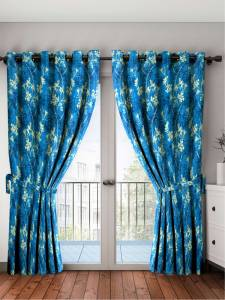 Cortina 210 cm (7 ft) Polyester Door Curtain (Pack Of 2)