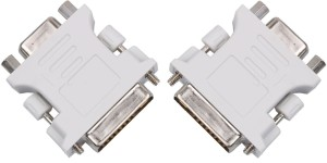 ReTrack SET OF 2PC DVI-connector dvi-i (a/d) to vga male to female 24+5-pin to 15-pin adapter convert DVI Cable