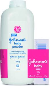 Johnson's Baby Powder with Baby Soap