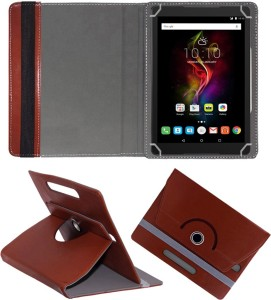 Fastway Book Cover for Alcatel Pop 4 10.1 inch Brown, Cases with Holder, Artificial Leather