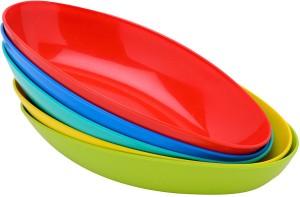 Generic Actionware Eco Ellipse Bowl  Set of 5 Bowls  Plastic Disposable Bowl Set Multicolor