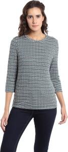 Vero Moda Casual 3/4th Sleeve Solid Women Grey Top