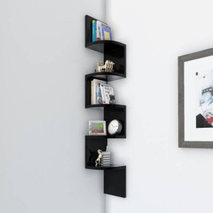 OnlinePurchas wood zigzag wall decor Wooden Wall Shelf
