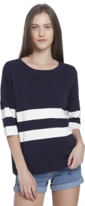 Vero Moda Casual Half Sleeve Solid Women's Dark Blue Top