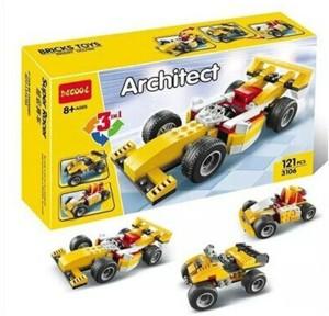 Sanyal Decool 3 in 1 Architect Bricks & Blocks set, Learning Game for Kids - 121 pcs