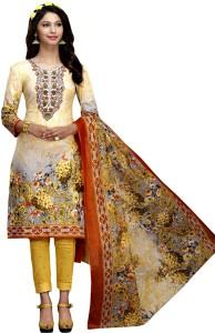 Fabvilla Cotton Floral Print Salwar Suit Dupatta Material Un stitched