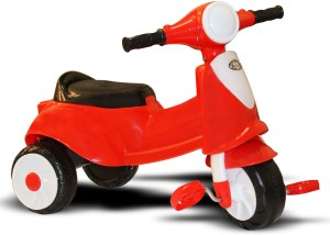 Akshat RED VEZPA TRICYCLE WITH MUSIC & LIGHT - STYLEZONE RED VEZPA TRICYLE Tricycle
