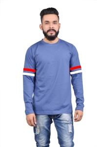 Roden Solid Men's Round Neck Blue T-Shirt