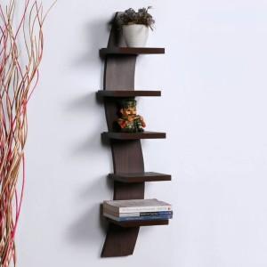 OnlinePurchas SNAKE SHAPED Wooden Wall Shelf