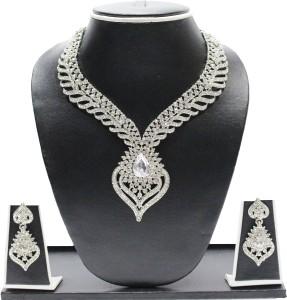 f93cba1b2ba Zaveri Pearls Dazzling Blue Stone Brass Dangle Earring Best Price in ...