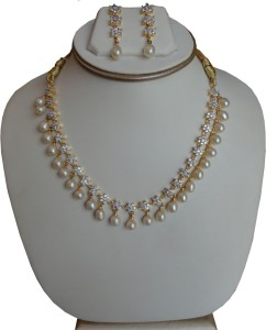 fdf7a6004 Shiny Pearls Alloy Jewel Set Gold Best Price in India | Shiny Pearls ...