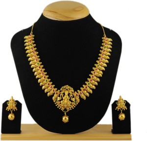 7d9396d659e98 Kalyani Covering Brass, Copper Jewel SetGold