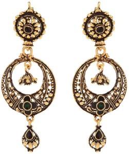 GoldNera Fabulas Antique ER Alloy Chandbali Earring