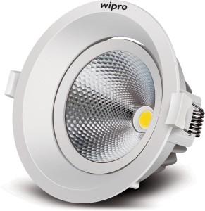 huge discount f55b0 347fd Wipro Garnet 12W Trimless COB Downlight 6500K Recessed Ceiling Lamp