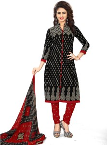 Saara Crepe Paisley, Printed Salwar Suit Dupatta Material Un stitched
