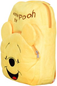 3cd6ca0ef11 DZert School Bag For Kids Winnie The Pooh Soft Plush Backpack For Small Kids  Nursery Bag (Age 2 to 6 Years) Plush BagYellow