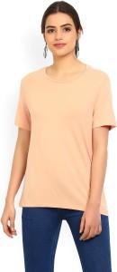 Vero Moda Casual Half Sleeve Solid Women Orange Top