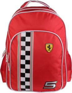 Simba BTS-FERRARI RACE FLAG 18 TR (Nursery/Play School) Waterproof School Bag