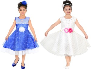 296bbcb096b FTC FASHIONS Girls Midi Knee Length Party Dress Multicolor ...