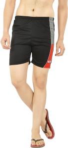 Fashion Fever Self Design Men Black Swim Shorts