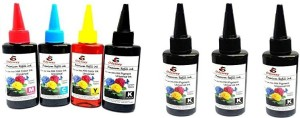 odyssey Odyssey Universal Premium Quality for use in HP/ Canon/ Brother/ Samsung Inkjet Printers 100 ML each ,4pcs black and 1 e Multi Color Ink
