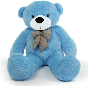 Baby Joy Soft Teddy Bear 4 Feet Long Pink  122 Cm  Sky Blue     25 cm Blue