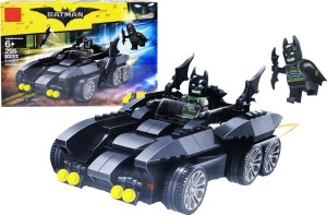 Emob 295 Pcs Action Hero Super Car Model Building Block Set Toys With 2 Mini Figure And Batwings