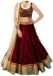 6a8443839ff MF Retail Girl s Lehenga Choli Ethnic Wear Embroidered Lehenga
