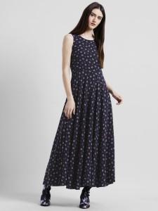 Zink London Women s Maxi Dark Blue Dress c0a102800