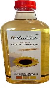 Farm Naturelle Organic Virgin Cold Pressed Sunflower Oil Sunflower Oil Plastic Bottle