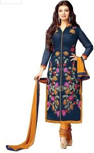 SUSETRENDZ Crepe Printed Salwar Suit Dupatta Material Un stitched