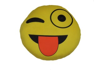 OM SMILEY WITH TOUNGE  - 8 cm