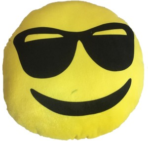 OM SMILEY WITH GLASSES  - 15 cm