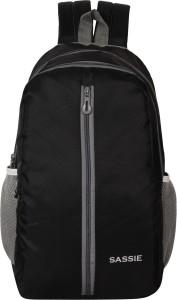 Sassie Black School Bag II Genuine Backpack II Multiuse bag II Smart Tuition Bag (21 Ltr) (SSN-1060) Waterproof School Bag