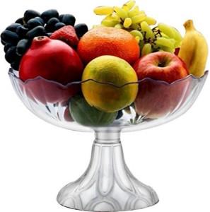 PALAK High-Quality Multipurpose Crystal Touch Designer Fruit Bowl/Pudding bowl/Ice-Cream Bowl/Vegetable Bowl- Kitchen Tool / Tableware Decorative Plastic Bowl
