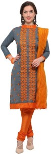 Sb Creation Cotton Embroidered Semi stitched Salwar Suit Dupatta Material