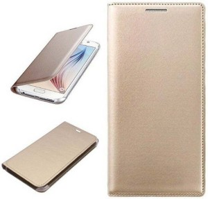 official photos 026f0 85127 Mobforce Flip Cover for VIVO Y71Gold color, Leather