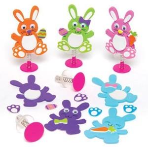 8cc5fb63b85b Baker Ross Easter Bunny Jump-Ups Toy Set For Children - Spring Party Bag  Stuffer Or Gift For Kids (P