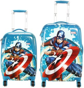 Cloud9JP CLOUD 9 HERO PRINTED KIDS TROLLY BAG SET OF 2 (22 inch & 18inch) Expandable  Check-in Luggage - 23 inch