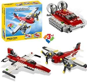 Sanyal 241 Pcs 3 In1 Adventure Creator Propeller Building Block Construction Set Toys For Children - Multicolored