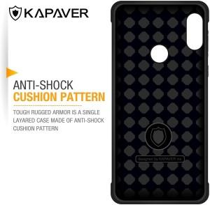 huge selection of 71fa0 87a46 Kapaver Bumper Case for Mi Redmi Note 5 ProBlack, Shock Proof, Plastic