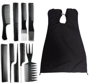 Majik Professional Parlour Use Hair Cutting Sheet \u0026 9 Pcs Hair Comb Set For  Men \u0026 WomenSet of 10