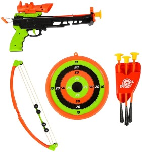 Kiditos Shooting Crossbow Infrared Set with Suction Dart, Target Board,  Real Crossbow SetMulticolor