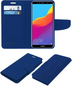 save off e8e74 135fd ACM Flip Cover for Honor 7aBlue, Cases with Holder, Artificial Leather