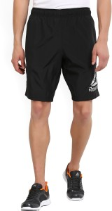 REEBOK Solid Men's Black Sports Shorts