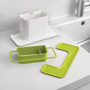 House of Quirk 3 IN 1 Kitchen Sink Organizer Sink Sponge HolderPlastic & House of Quirk 3 IN 1 Kitchen Sink Organizer Sink Sponge Holder ...