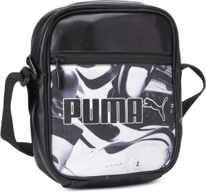 Puma Men Women Casual Black PU Sling Bag Best Price in India  9ef04d051b7a1