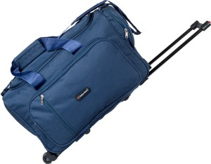 Indian Riders Travel Bag with Trolley - Navy Blue (IRTB-001) Check-in Luggage - 24 inch