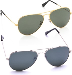 dabd4793fca Azmani Aviator Sunglasses Multicolor Best Price in India