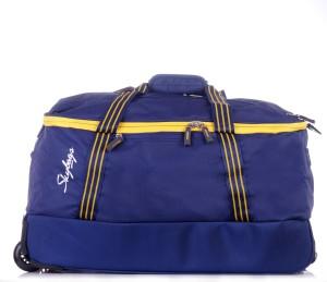 Skybags Boom Duffle on Wheel Bag 59 cm (Blue) Duffel Strolley Bag